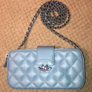 CHANEL BOX CLUTCH WITH CHAIN